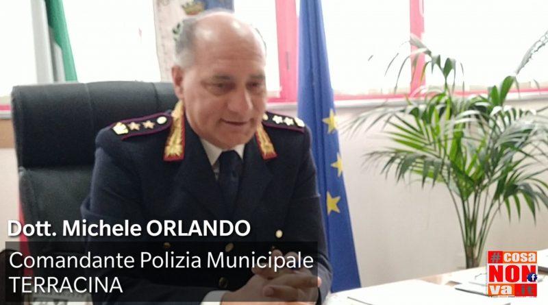 Sicurezza Comandante polizia municipale Terracina Michele Orlando