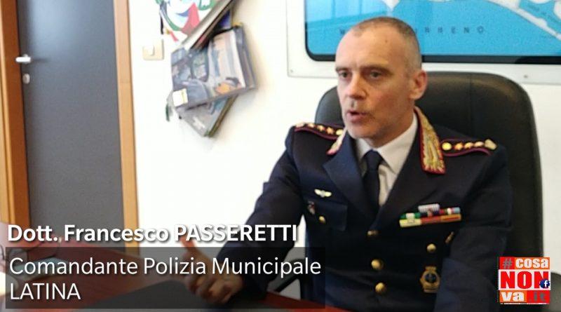 Comandante Polizia municipale di Latina Passeretti