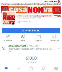 5000 mi piace su Facebook