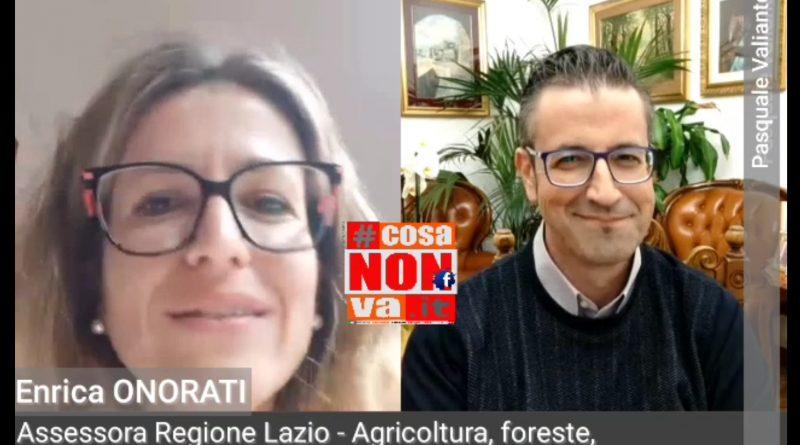 enrica onorati cosanonva Pasquale Valiante Agricoltura Regione Lazio